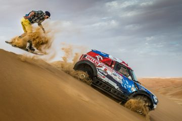 Wojtek Pawlusiak & Jakub Przygonski perform at the Dune Freestyle in Abu Dhabi, UAE on April 8, 2016. // Kin Marcin/Red Bull Content Pool // P-20160603-00970 // Usage for editorial use only // Please go to www.redbullcontentpool.com for further information. //
